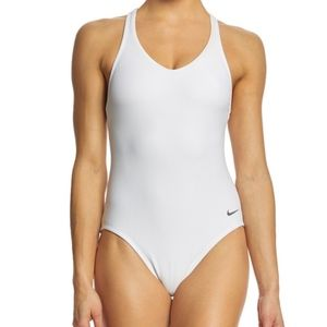 NIKE Women's Ribbed Racerback One Piece Swimsuit